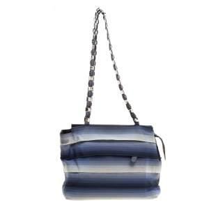 Salvatore Ferragamo Blue Ombre Canvas Shoulder Bag