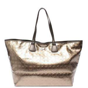 Salvatore Ferragamo Brown Leather Tote Bag
