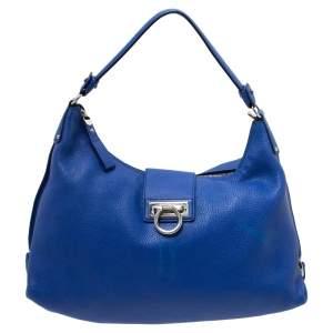 Salvatore Ferragamo Blue Leather Fanisa Hobo