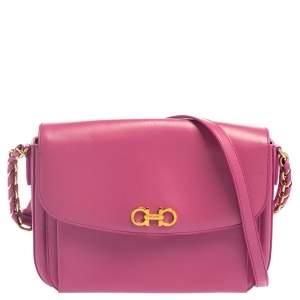 Salvatore Ferragamo Pink Leather Sandrine Shoulder Bag