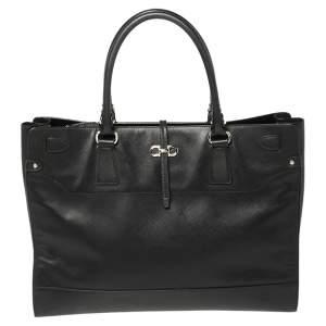 حقيبة يد توتس سالفاتوري فيراغامو بريانا جلد أسود كبيرة