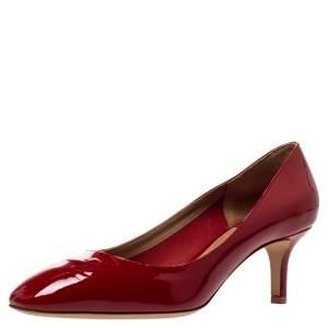 Salvatore Ferragamo Red Patent Leather Pumps Size 38.5