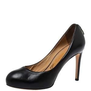 Salvatore Ferragamo Black Leather Round Toe Pumps Size 36