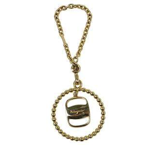 Salvatore Ferragamo Gold Pendant Keyring