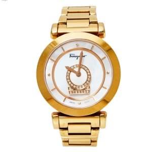 Salvatore Ferragamo Gold Tone Stainless Steel Minuetto Women's Wristwatch 37mm