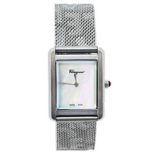 ساعة يد نسائية سالفاتوري فيراغامو بورتريت أس أف دي أس00419 ستانلس ستيل صدف 24 مم