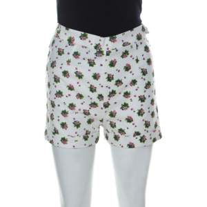 See by Chloe White Cotton Floral Printed Shorts S