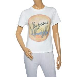 See by Chloe White Logo Printed Cotton Short Sleeve T-Shirt XS