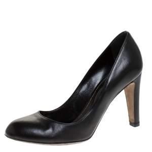 Sergio Rossi Black Leather Pumps Size 38.5