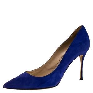 Sergio Rossi Purple Suede Pointed Toe Pumps Size 41