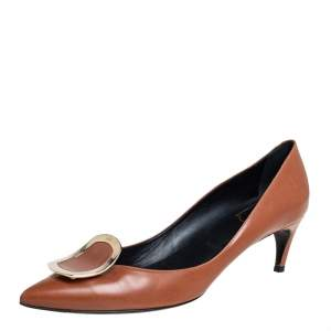 Roger Vivier Tan Leather Pointed Toe Pumps Size 40