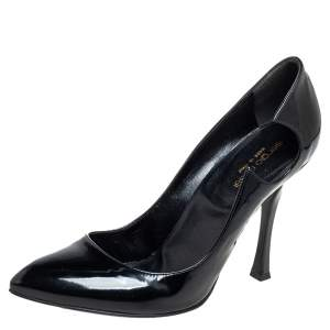 Sergio Rossi Black Leather Cut Out Pumps Size 40