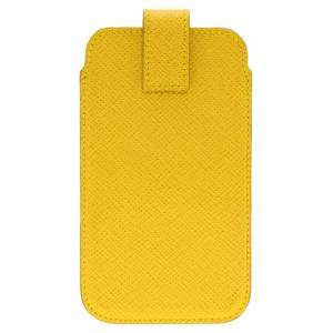 Smythson Yellow Leather Phone Case