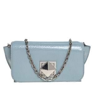 Sonia Rykiel Powder Blue Patent Leather Le Copain Shoulder Bag