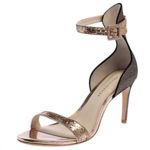 Sophia Webster Bronze/Gold Glitter Nicole Ankle Strap Sandals Size 39