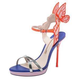 Sophia Webster Multicolor Leather Chiara Wing Sandals Size 36