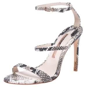 Sophia Webster Multi-color Python Embossed Leather Rosalind Ankle Strap Sandals Size 36