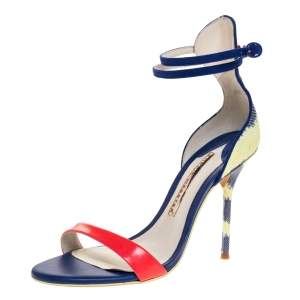 Sophia Webster Multicolor Patent And Canvas Nicole Sandals Size 36.5