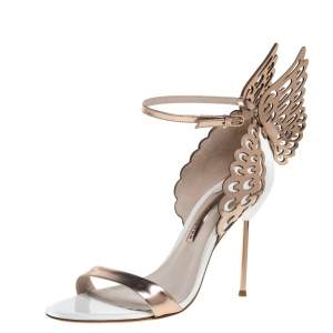 Sophia Webster Gold Leather Evangeline Sandals Size 40