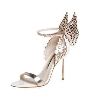 Sophia Webster Gold Patent Leather Evangeline Sandals Size 37