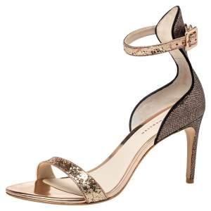 Sophia Webster Gold/Bronze Nicole Ankle Strap Sandals Size 41
