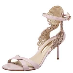 Sophia Webster Pink Leather  Ankle Strap Sandals Size 38