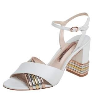Sophia Webster White Leather Joy Sandals Size 39