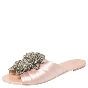 Sophia Webster Pink Satin Lilico Flats Size 37.5