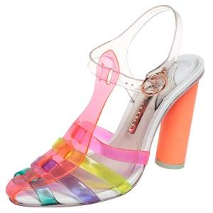 Sophia Webster Multicolor PVC Rosa Ankle Strap Sandals Size 36