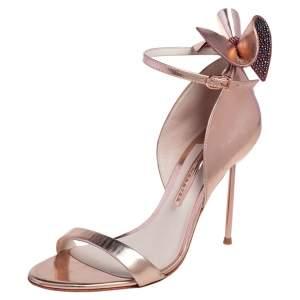 Sophia Webster Rose Gold Leather Maya Ankle Strap Sandals Size 38