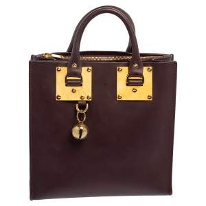 Sophie Hulme Burgundy Leather Albion Square Tote