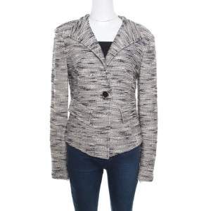 ST. John Multicolor Textured Jacket M
