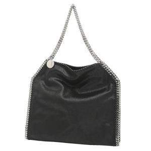 Stella McCartney Black Leather Chain Falabella Tote Bag