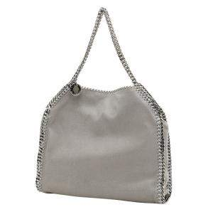 Stella McCartney Light Grey Leather Small Falabella Tote Bag