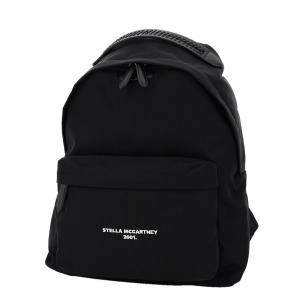Stella McCartney Black Nylon Logo Go Backpack