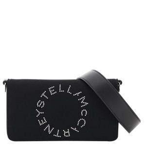 حقيبة كروس ميني ستيلا مكارتني ستار لوغو نايلو/جلد أسود