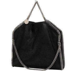 Stella McCartney Black Recycled Nylon Falabella Tote Bag