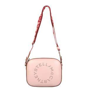 Stella McCartney Pink Leather Stella Logo Camera Mini Bag