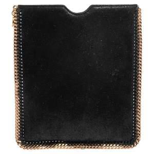 Stella McCartney Black Faux Leather Falabella iPad Case