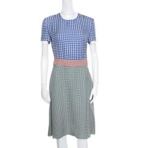 Stella McCartney Multicolor Printed Crepe Short Sleeve Dress S