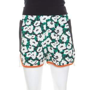 Stella McCartney Multicolor Floral Printed Stretch Knit Kristelle Shorts S