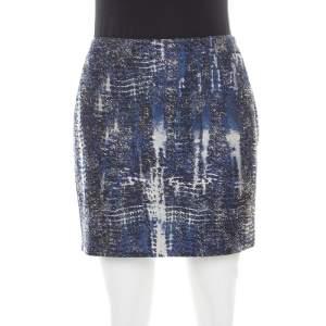 Stella McCartney Blue Jacquard Becca Mini Skirt M