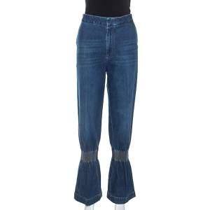 Stella McCartney Blue Denim Shirred Detail April Jeans M