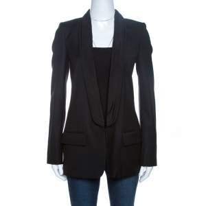 Stella McCartney Black Wool Tuxedo Jacket S