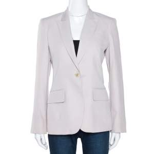 Stella McCartney Pale Ecru Silk Blend Tailored Blazer S