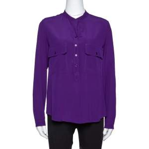 Stella McCartney Purple Silk Estelle Blouse XS