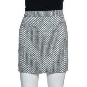 تنورة ستيلا مكارتني قصيرة مزخرف نمط شبكة تريكو متعدد الألوان مقاس وسط (ميدوم)