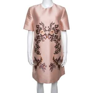 Stella McCartney Peach Laycie Floral Embroidered Shift Dress M