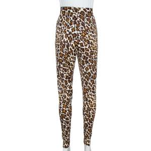 Stella McCartney Brown Animal Print Knit Pants M
