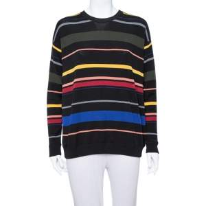 Stella McCartney Black Striped Wool Oversized Sweater S